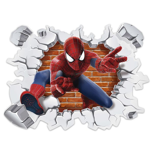 Stickers for Kids: Wall hole Spiderman