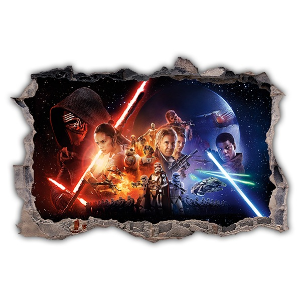Wall Stickers: Hole The Force Awakens Star Wars