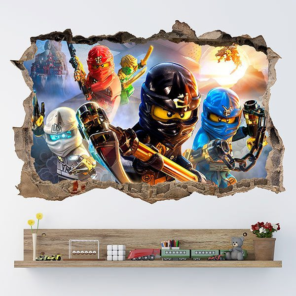 Wall Stickers: Hole Lego Ninjago