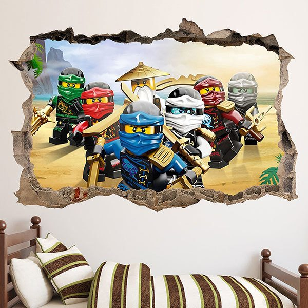 Wall Stickers: Hole Lego Team Ninjago