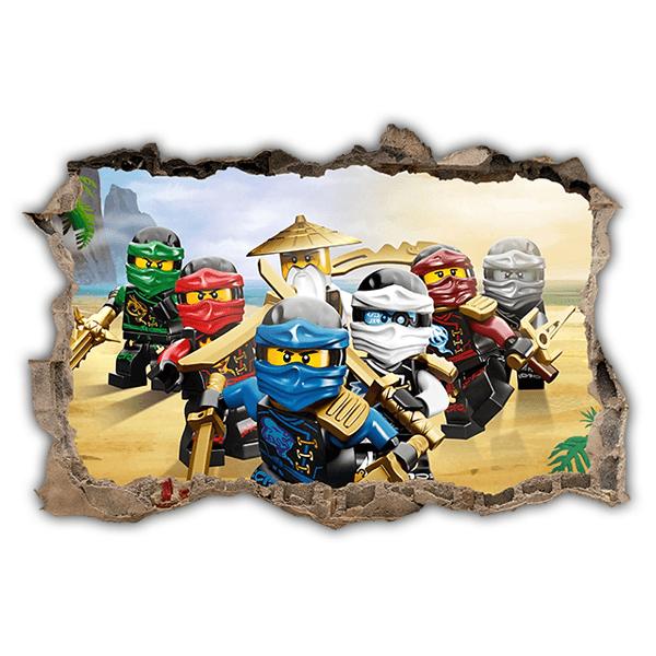 Kids wall sticker lego team ninjago - Lego ninjago team ...