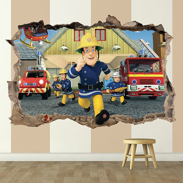 Wall Stickers: Hole Fireman Sam