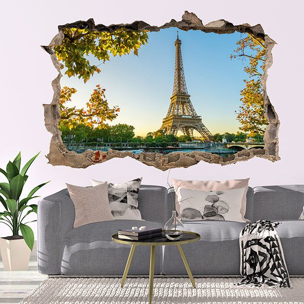 Wall Stickers: Hole Eiffel Tower