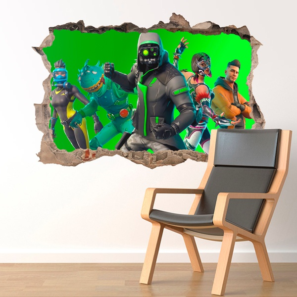 Wall Stickers: Hole Fortnite squad