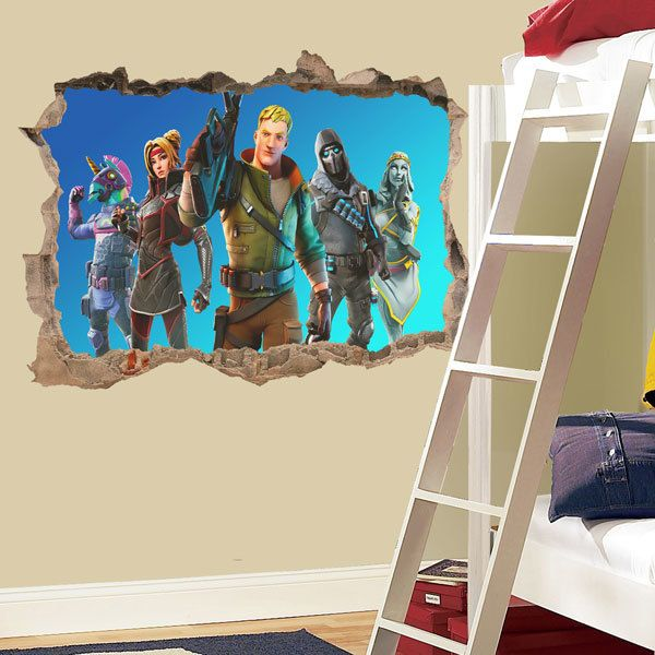 Wall Stickers: Blue background squad