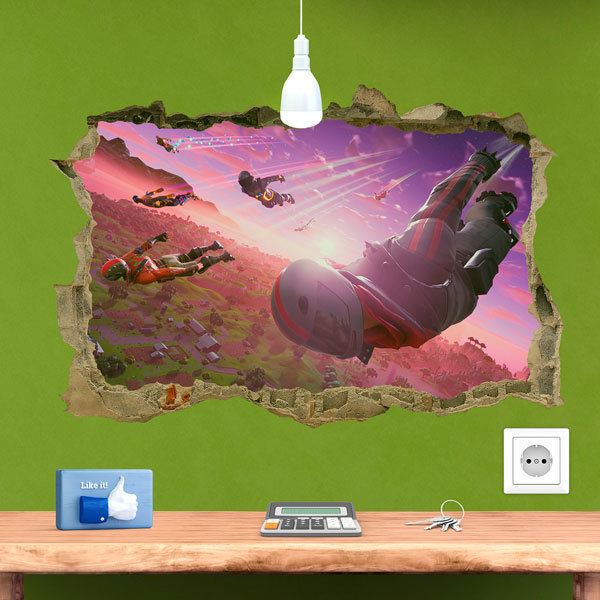 Wall Stickers: Fortnite flight