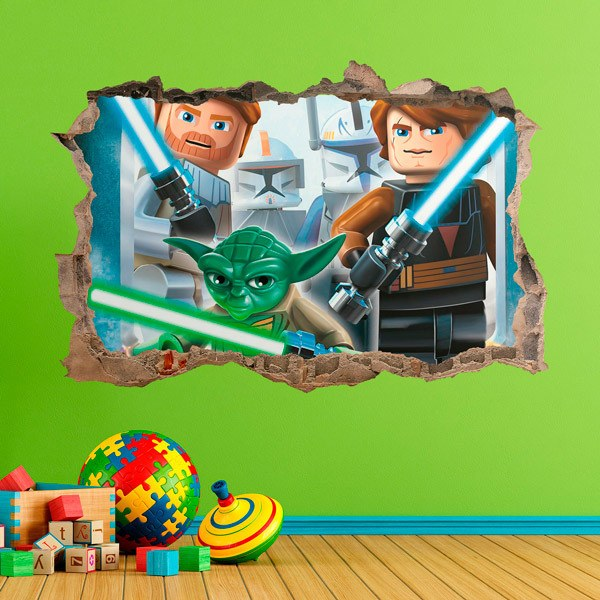 Stickers for Kids: Lego, Star wars laser swords