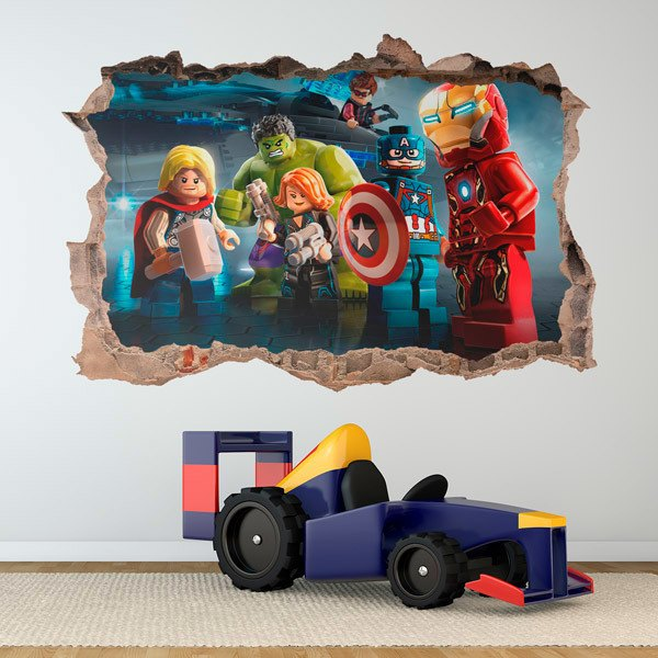 Stickers for Kids: Lego, superheroes meeting