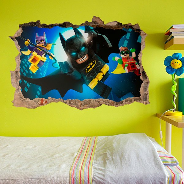 Stickers for Kids: Lego, Batman, Robin and Batgirl