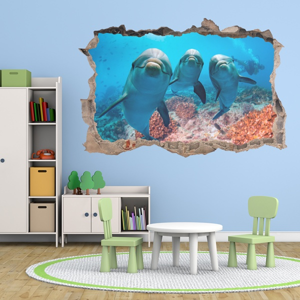 Wall Stickers: Happy Dolphins