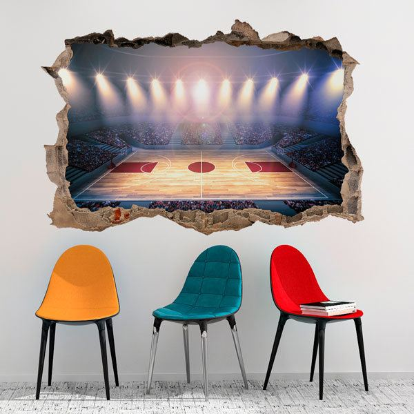 Wall Stickers: Basketball court