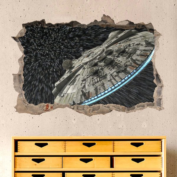 Wall Stickers: Millennium Falcon for Space