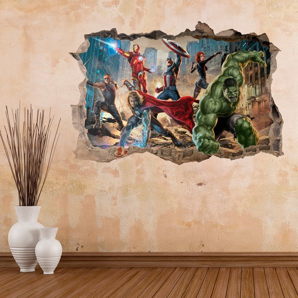 Wall Stickers: Avengers in the City