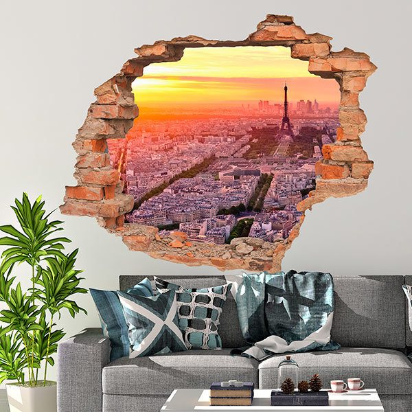Wall Stickers: Sunset hole in Paris