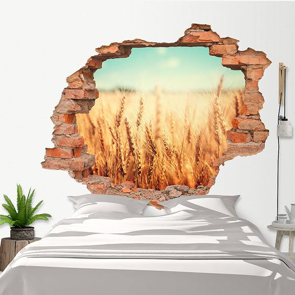 Wall Stickers: Hole Wheat field