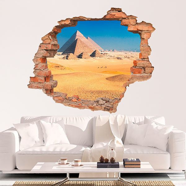 Wall Stickers: Hole Pyramids of Giza