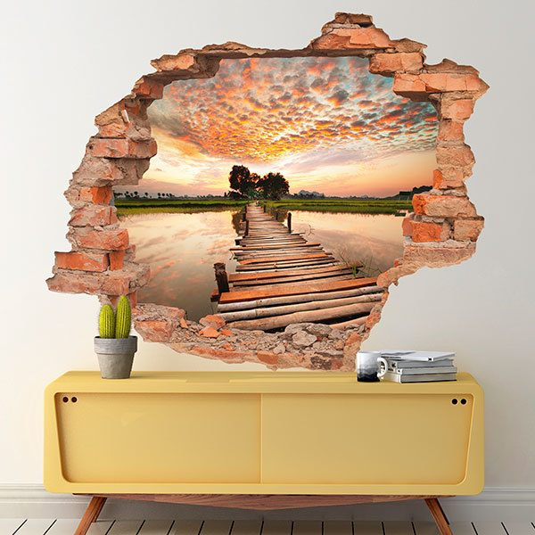 Wall Stickers: Hole Sunset catwalk