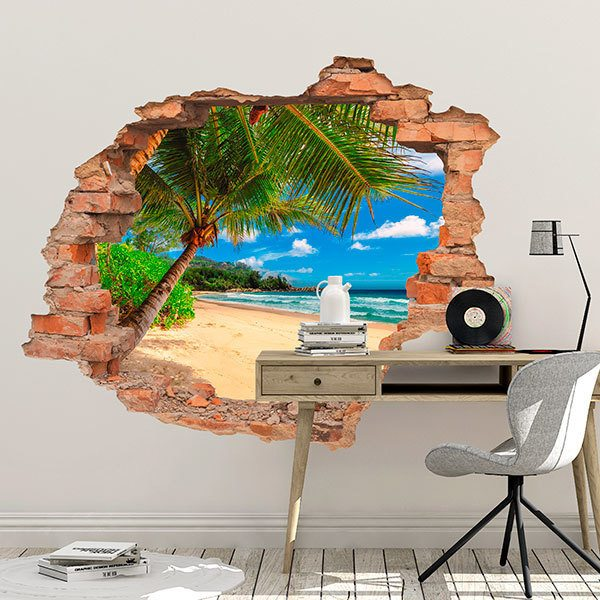 Wall Stickers: Hole Palm Beach