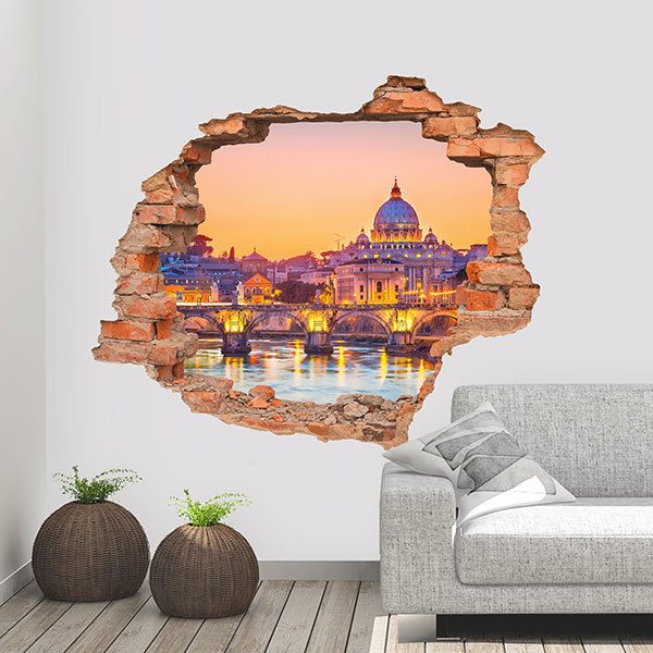 Wall Stickers: Hole Rome and the Vatican