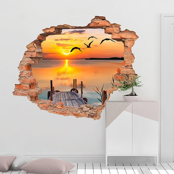 Wall Stickers: Hole Sunset at sea