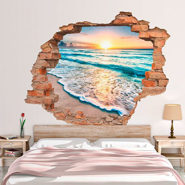 Wall Stickers: Hole Sunrise on the beach