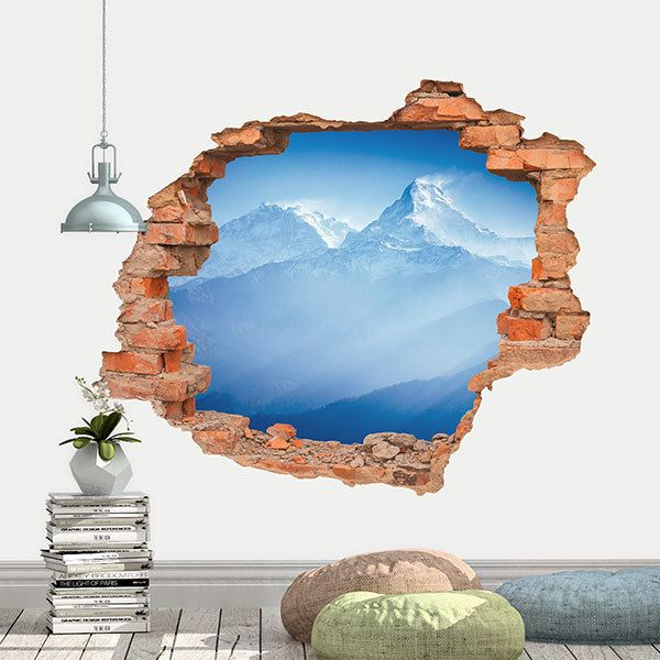 Wall Stickers: Hole Himalayan Mountains
