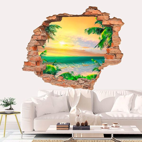 Wall Stickers: Hole Sunset in the Caribbean