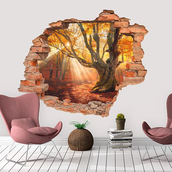 Wall Stickers: Hole Oak in autumn