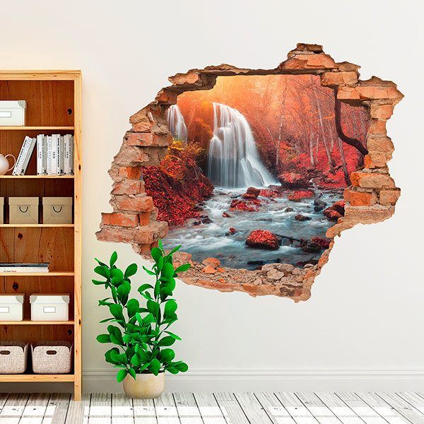 Wall Stickers: Hole Waterfall in the Crimea Park