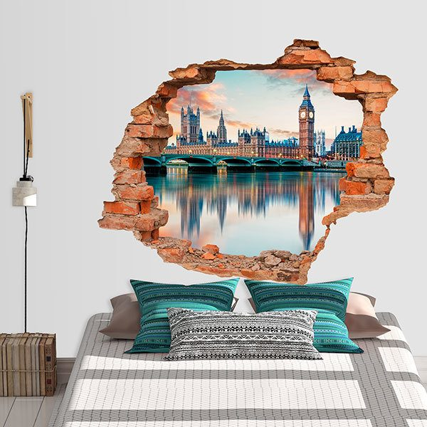 Wall Stickers: Hole London and the River Thames