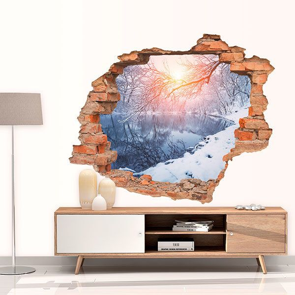 Wall Stickers: Hole Snowy landscape