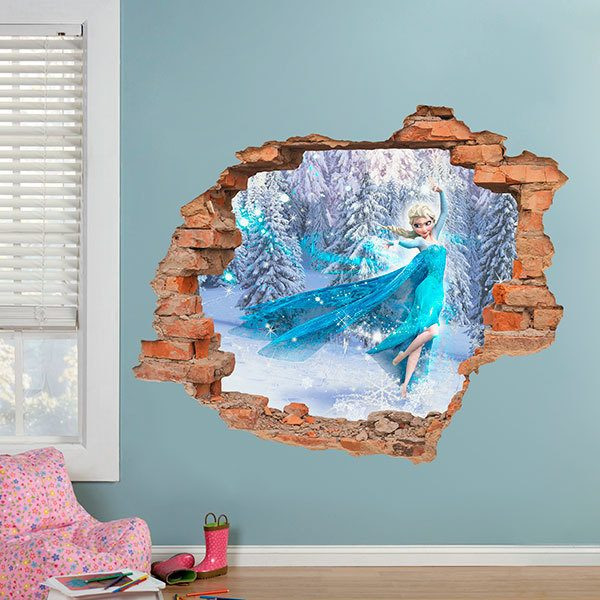Wall Stickers: Hole Elsa from Frozen, Disney