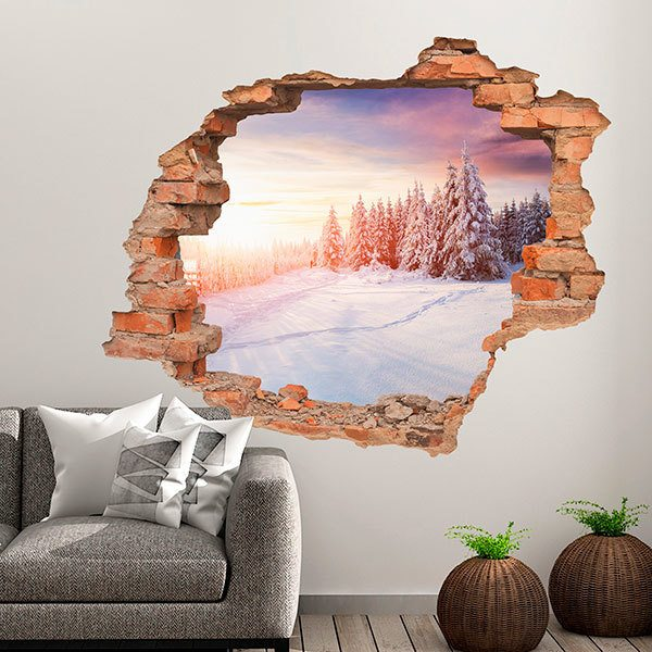 Wall Stickers: Hole Dawn in winter