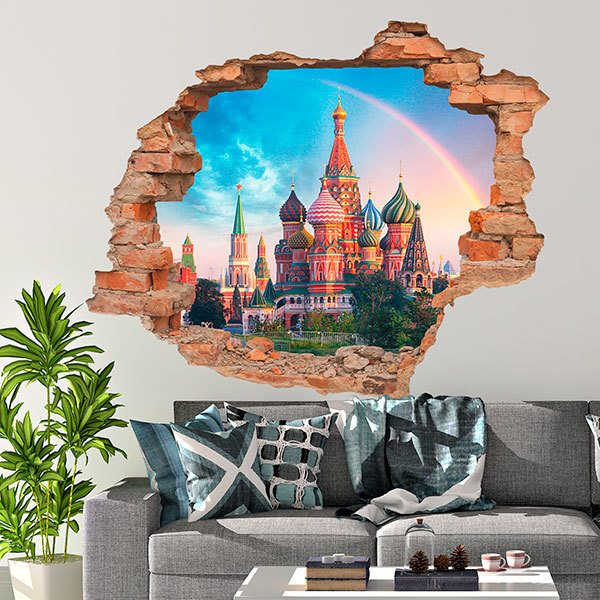 Wall Stickers: Hole Moscow Cathedral