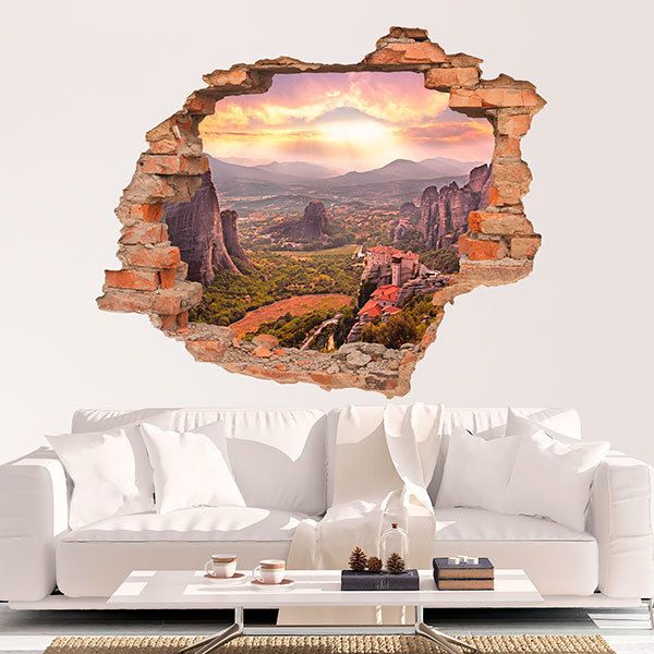Wall Stickers: Hole Meteora Monastery 1