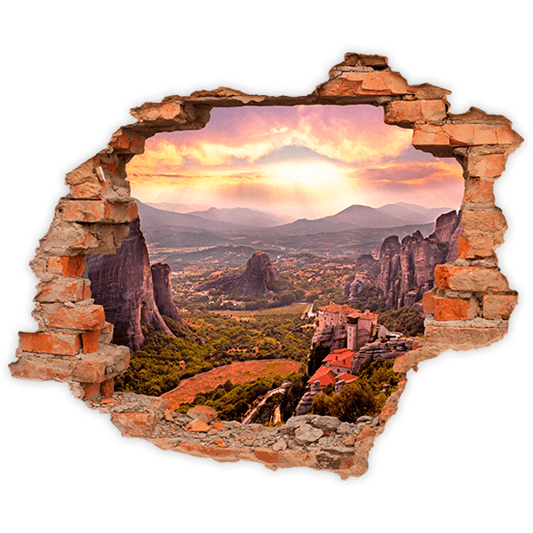 Wall Stickers: Hole Meteora Monastery 0