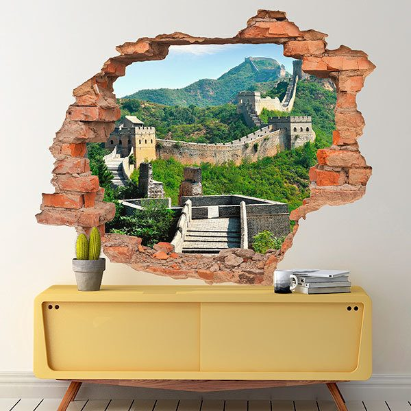 Wall Stickers: Hole Great Wall of China