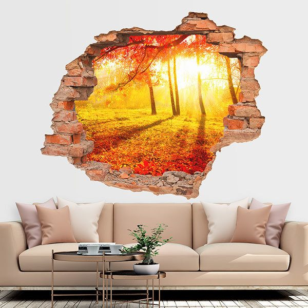 Wall Stickers: Hole Autumn sunset