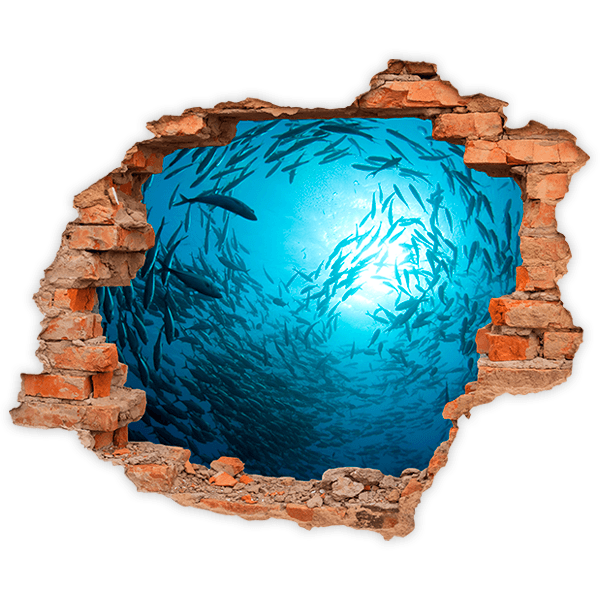 Wall Stickers: Hole Fish spiral