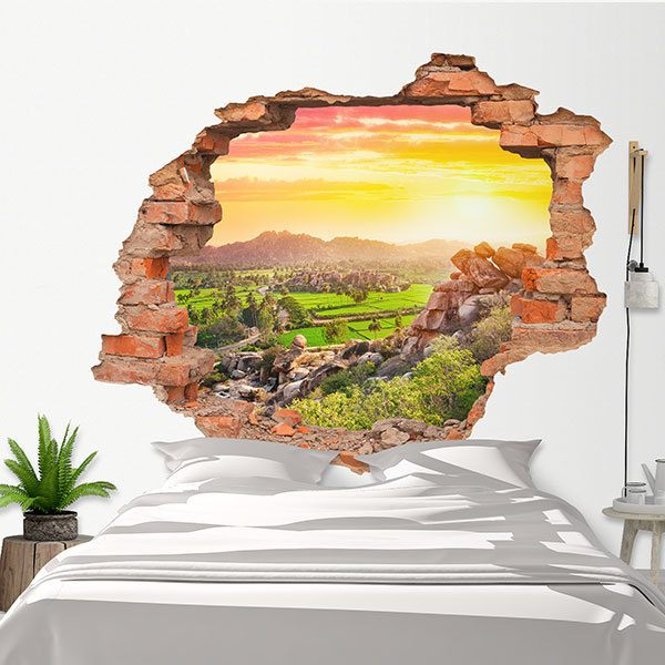 Wall Stickers: Hole Hampi Valley