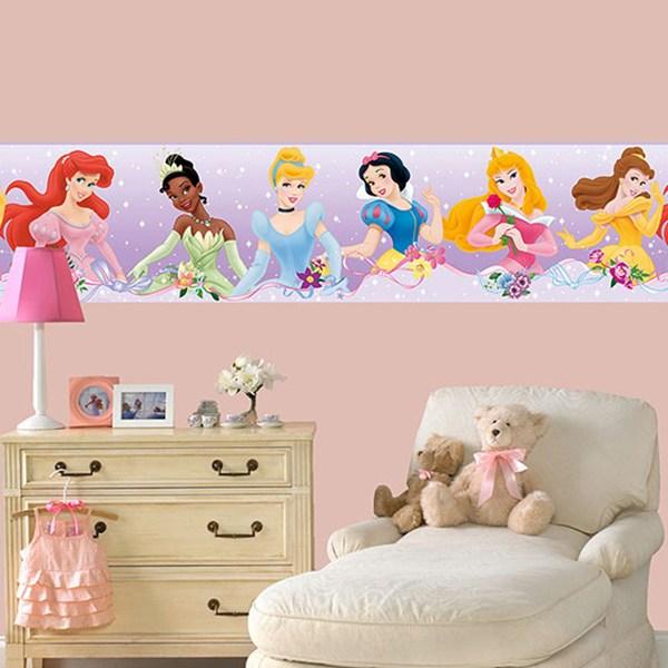 wall kid sticker seamless disney princesses | muraldecal