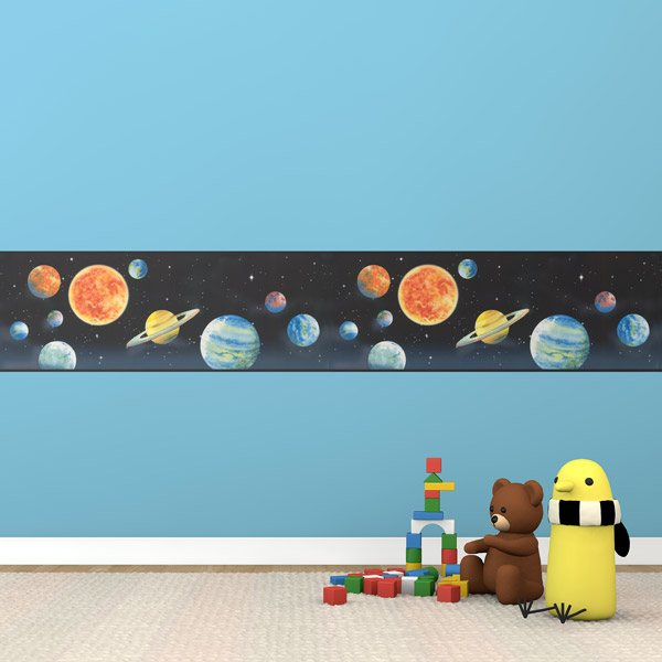 Stickers for Kids: Wall Border Space