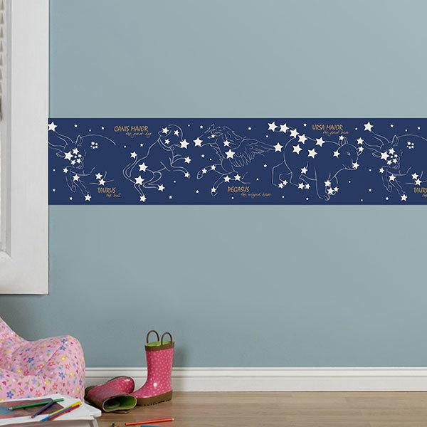 Wall Stickers: Wall border Constellations