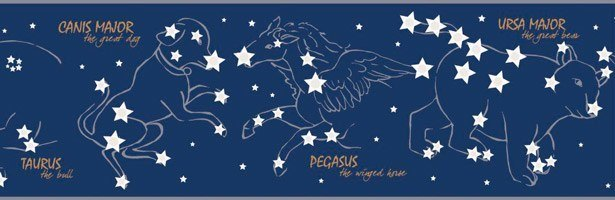 Wall Stickers: Self adhesive borders Constellations
