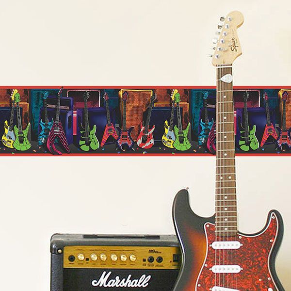 Wall Stickers: Wall border Guitars