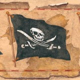 Stickers for Kids: Wall border Pirates 4