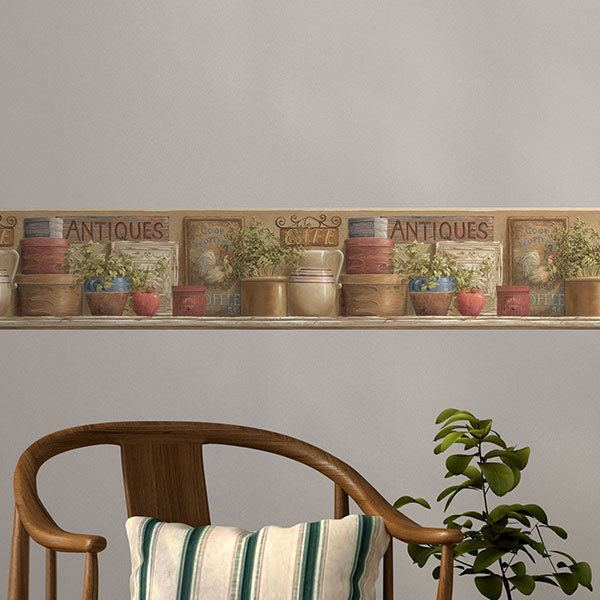 Wall Stickers: Wall border Antiques