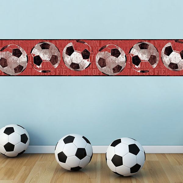 Stickers for Kids: Wall border soccer
