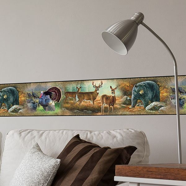 Wall Stickers: Self adhesive borders Animals