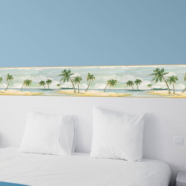 Wall Stickers: Wall border Palms